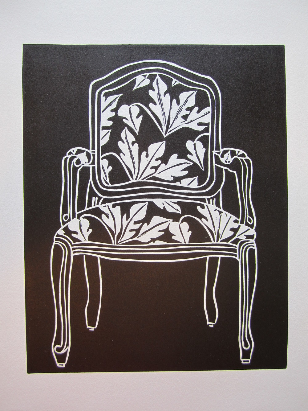 Greenbank Linocut print - Armchair II - 8 in x 10 in.JPG