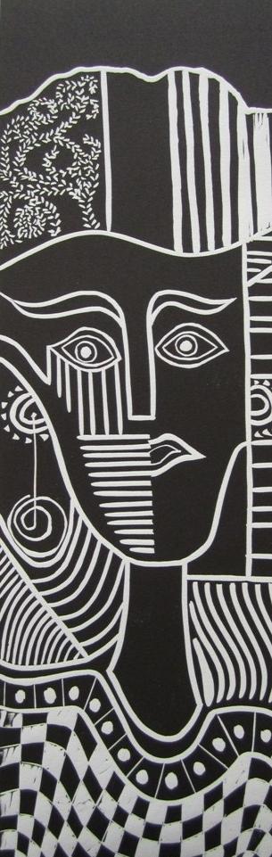Image 2 - Susan Greenbank 2011 - My Picasso 4 - Linoprints 014.JPG