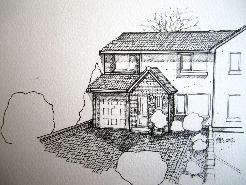 Lesley's first house in Dunblane 2012.JPG