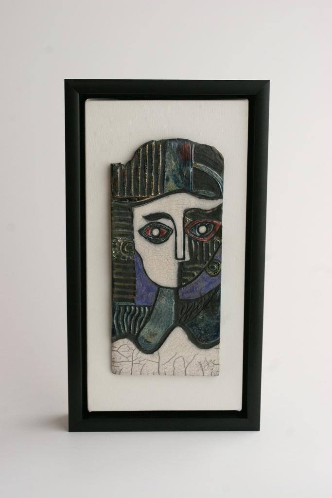 c13 My Picasso I - raku tile.jpg