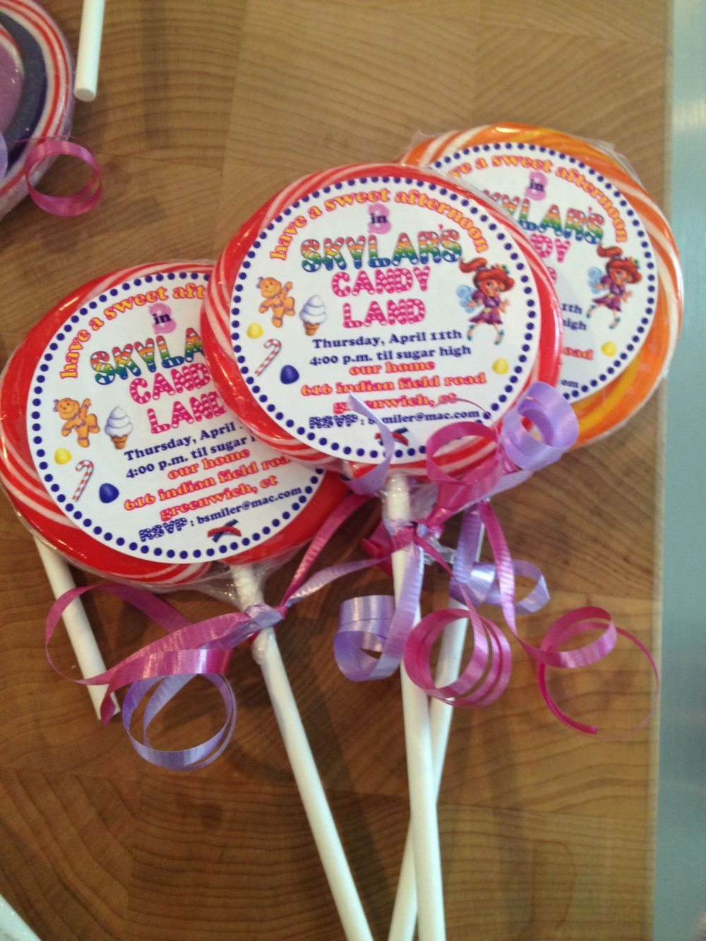 Invitations personalized stationery a r events candy land themed invitation lollipops filmwisefo