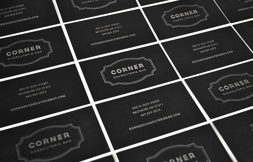 Corner Charcuterie Bar: Business Card Design