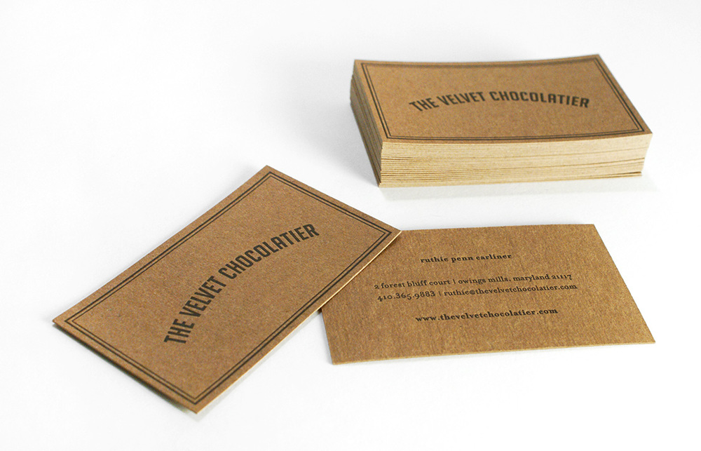 The Velvet Chocolatier: Business Card Design