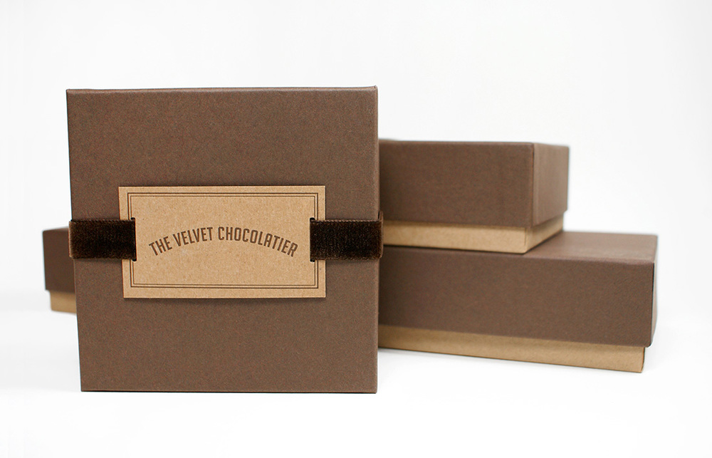 The Velvet Chocolatier: Package Design