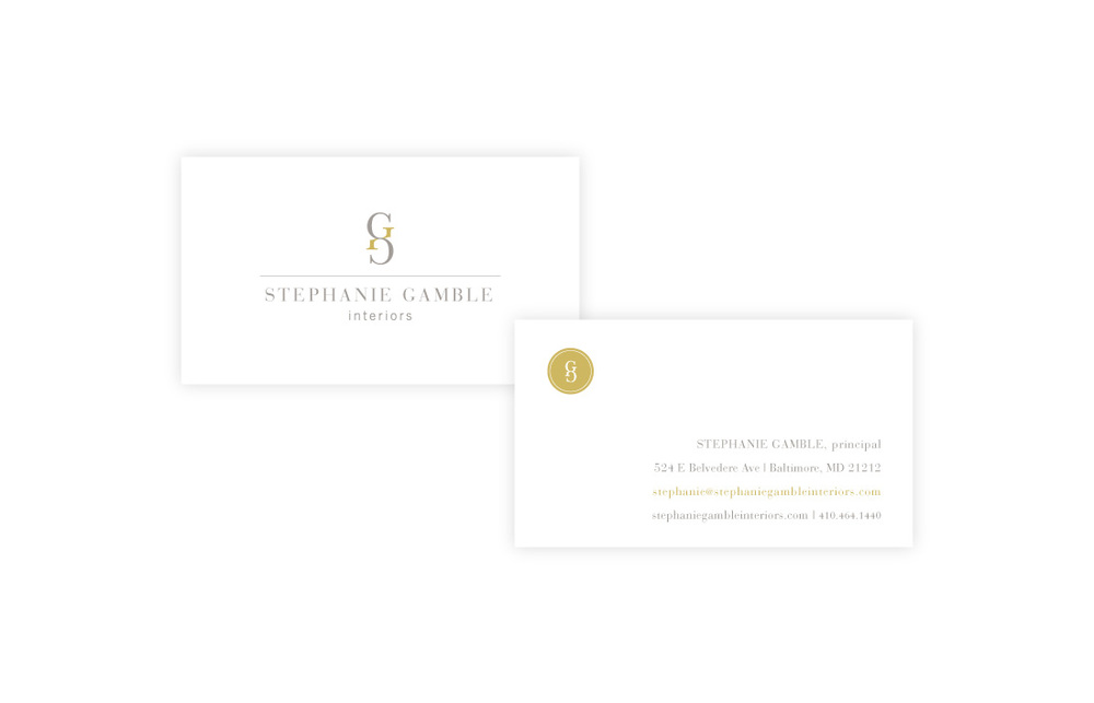 Stephanie Gamble Interiors: Business Card Design