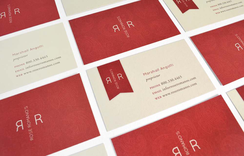 Rose Romano's: Business Card Design