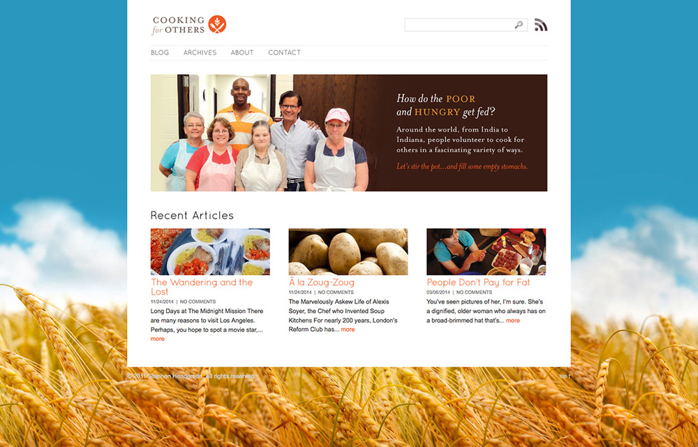 Cooking for Others: Website Design