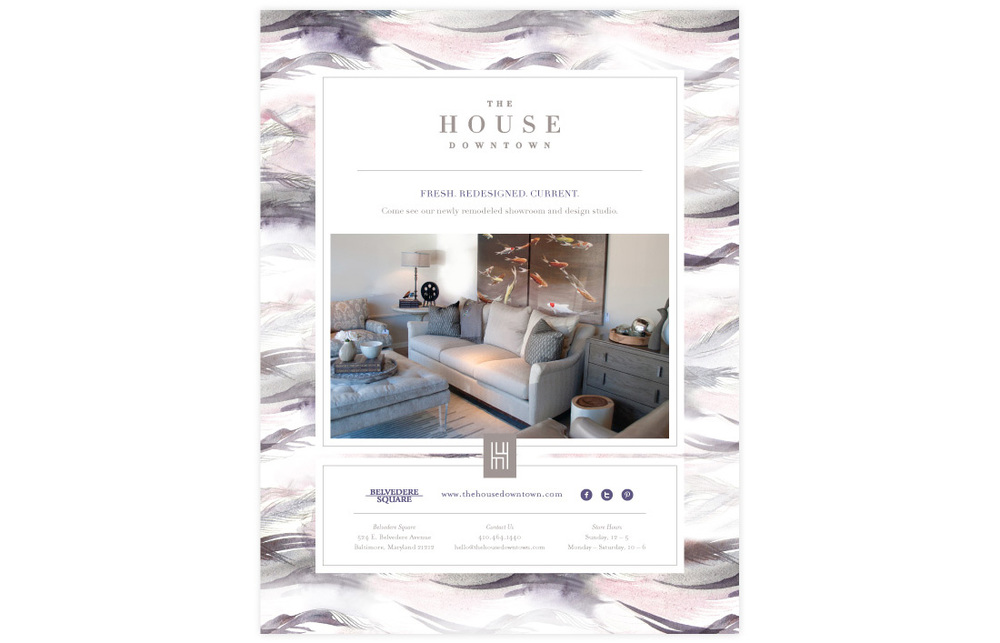 The House Downtown: Ad Design
