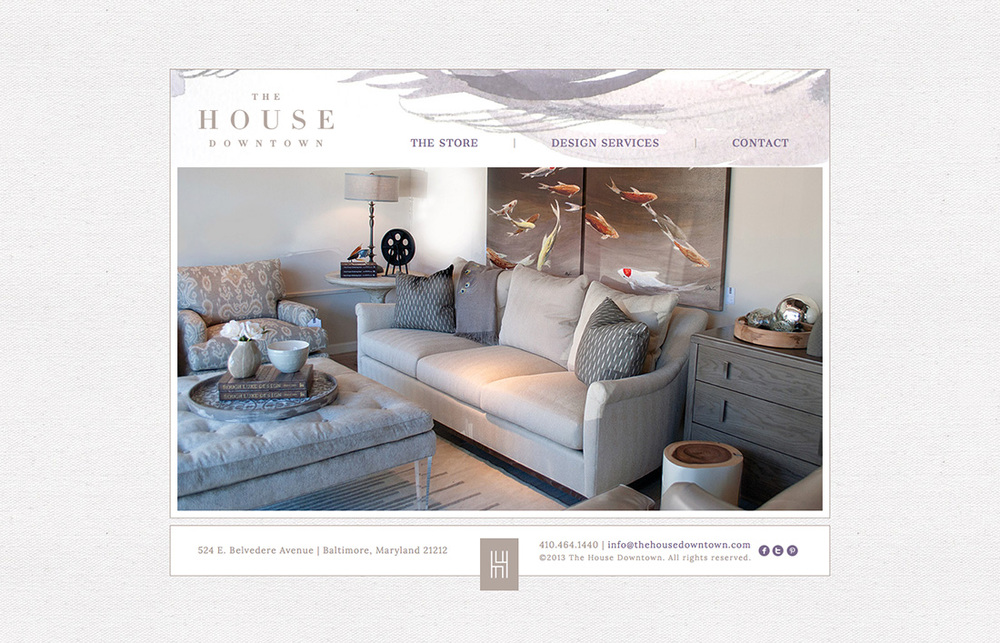 The House Downtown: Website Design