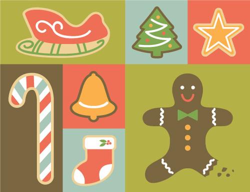 digital holiday boxed notes christmas cookies 8 cards gilah