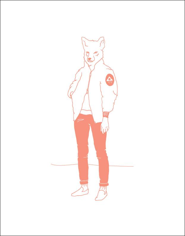 Manimals: Fox Wall Print
