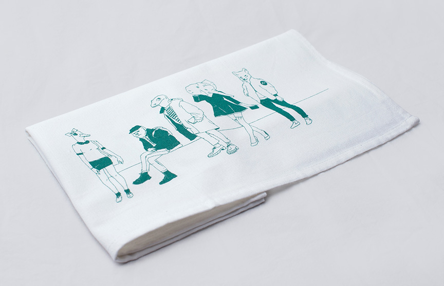 Manimals: Tea Towel