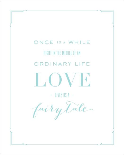 Love Prints: Fairytale Wall Print