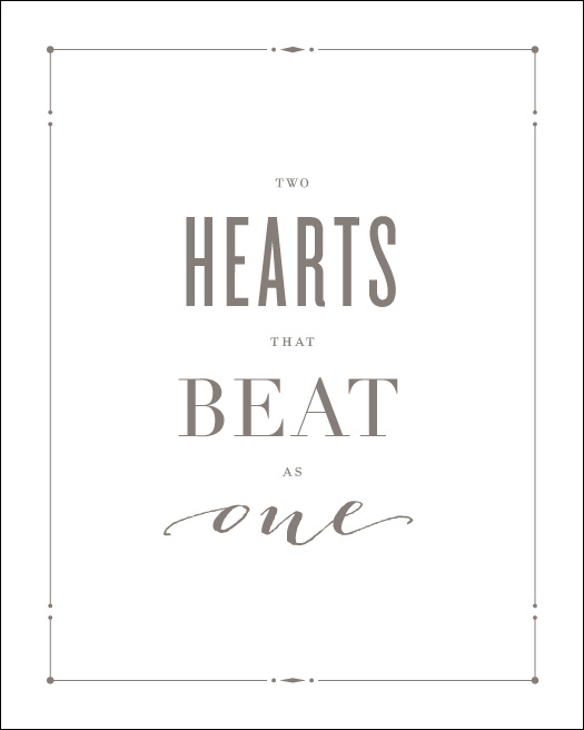 Love Prints: Hearts Wall Print