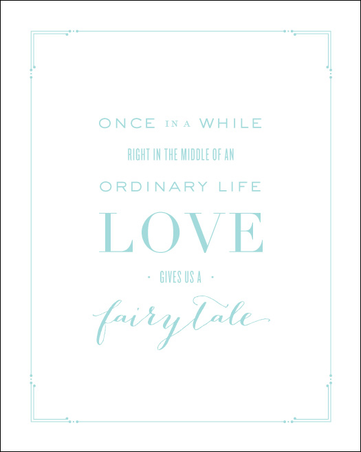 Love Prints: Fairytale Wall Print