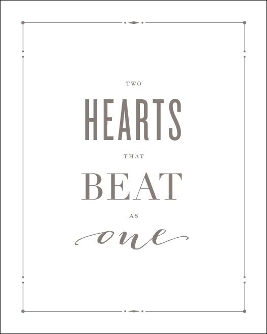 Love Prints: Hearts Wall Print