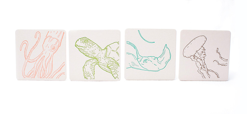 Sea Creatures: Coasters