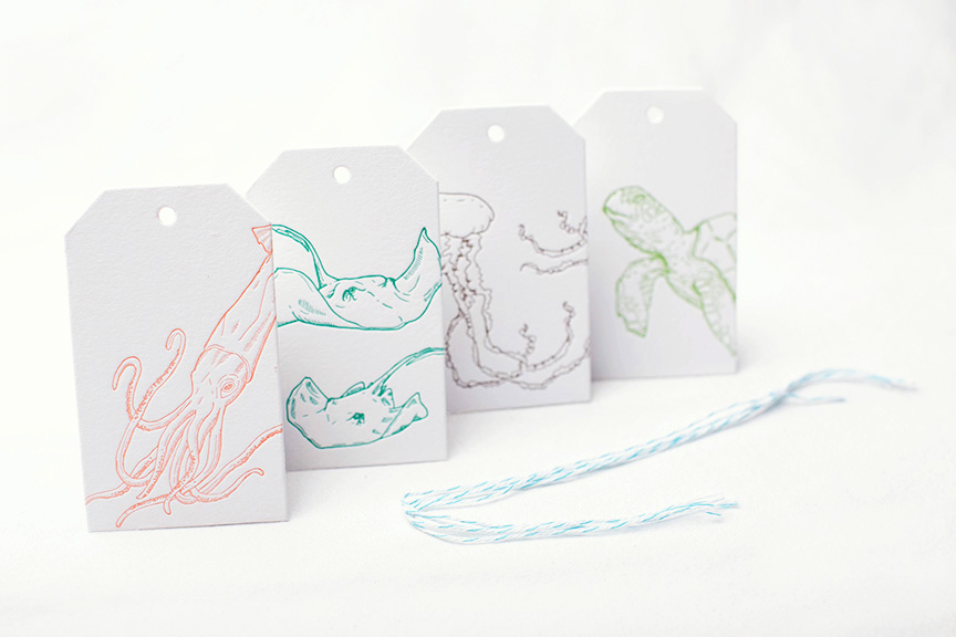 Sea Creatures: Gift Tags