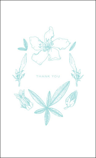 "Botanicals: ""Thank You"" Card"