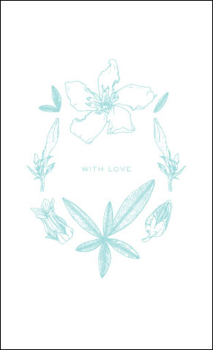 "Botanicals: ""With Love"" Card"