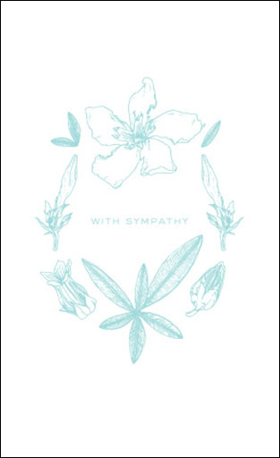 "Botanicals: ""With Sympathy"" Card"