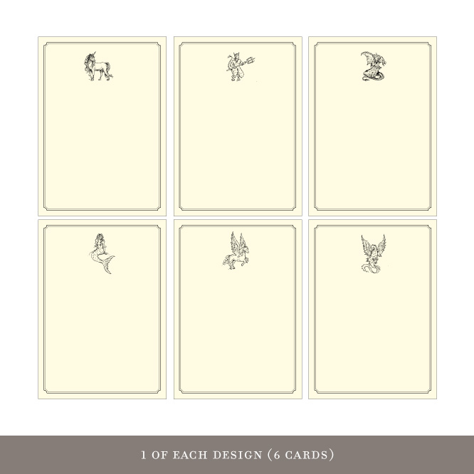Gift Enclosures: Mythical Creatures (6 cards)