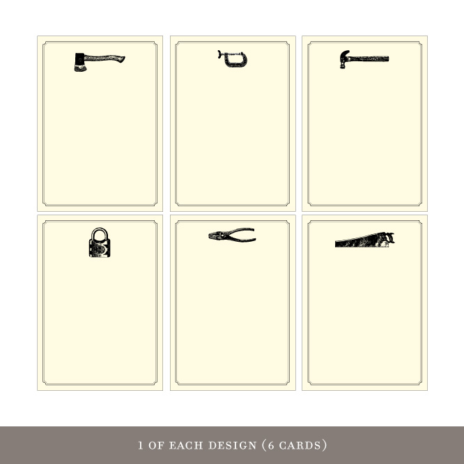Gift Enclosures: Tools (6 cards)