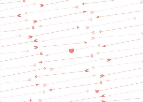 Love Cards Cupid S Arrow Card Gilah Press Design Letterpress Printing And Design Studio Baltimore Md