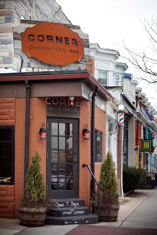 Corner Charcuterie Bar: Signage Design