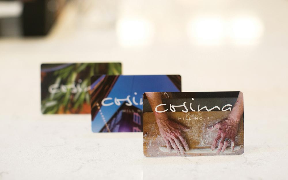 Cosima: Gift Card Design