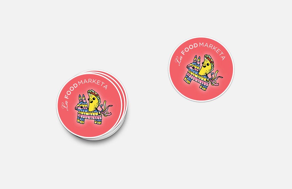 La Food Marketa: Tacopalooza Sticker Design