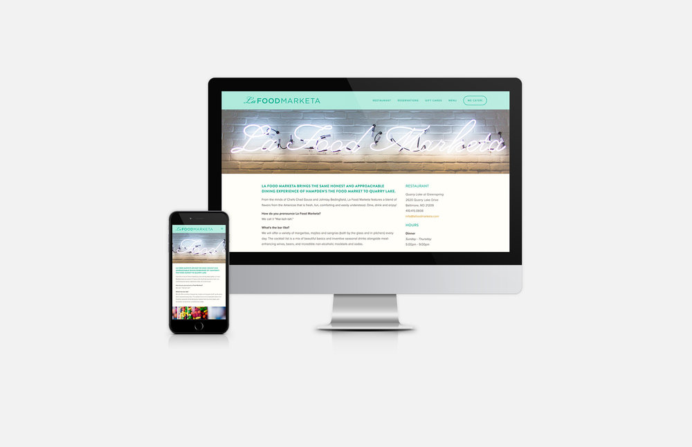 La Food Marketa: Website Design
