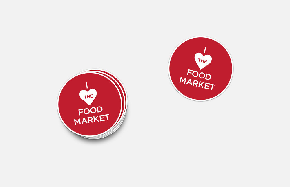 The Food Market: Sticker Design