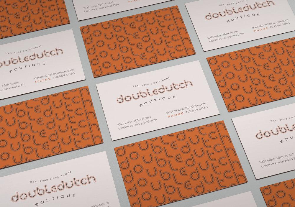Doubledutch Boutique: Business Card Design