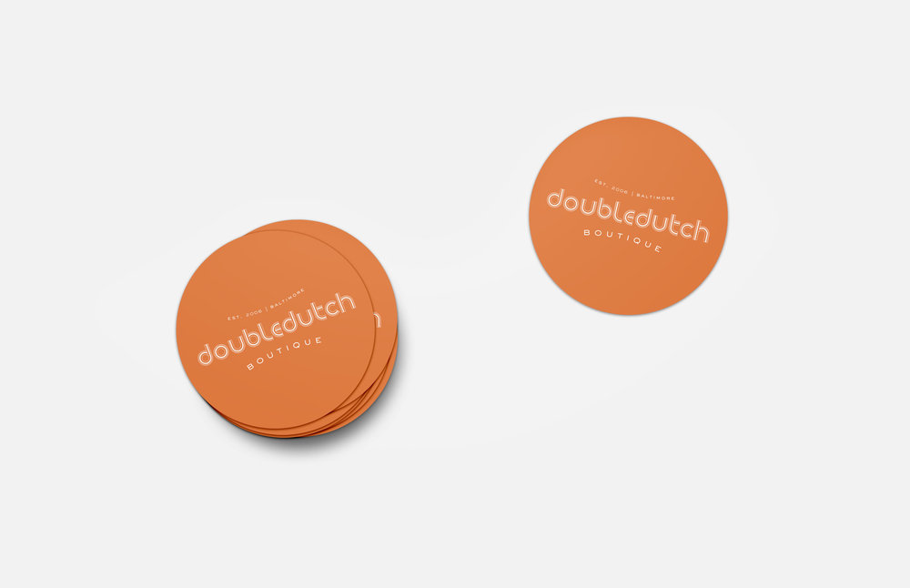 Doubledutch Boutique: Sticker Design
