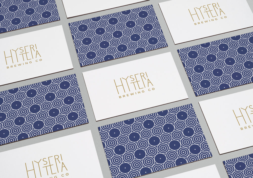 Hysteria Brewing Company: Business Card Design