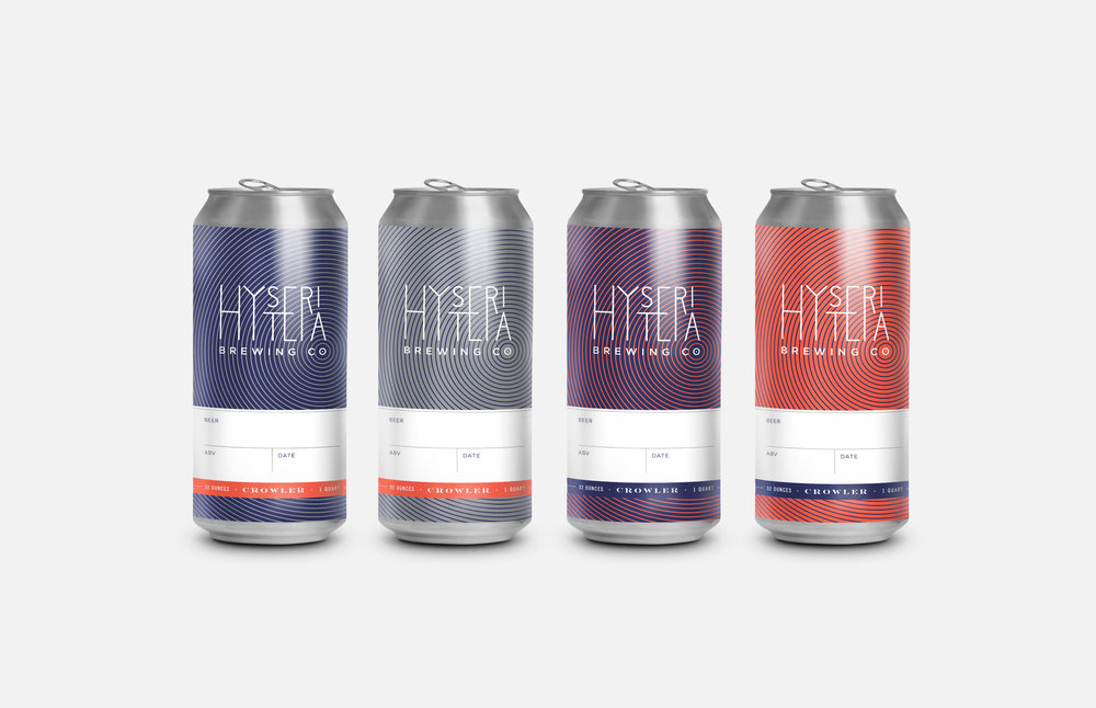 Hysteria Brewing Company: Crowler Designs