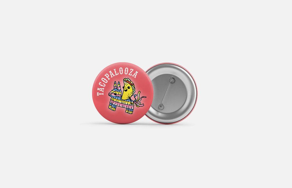 La Food Marketa: Tacopalooza Button Design