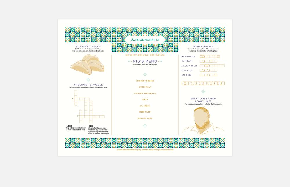 La Food Marketa: Kid's Menu Design