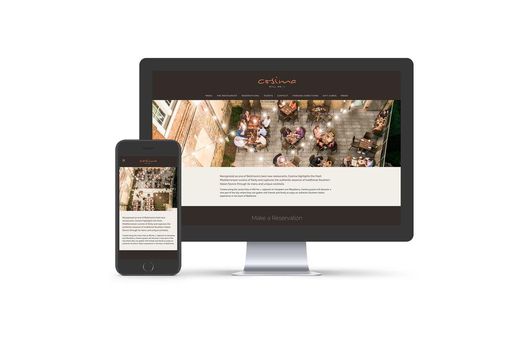 Cosima: Responsive Website Design