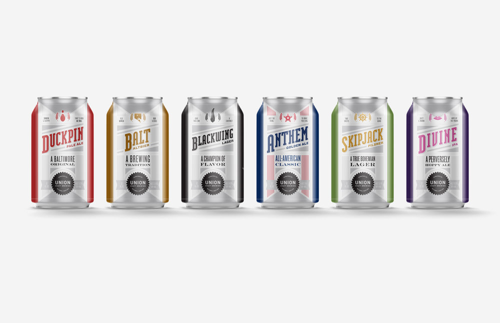 Union Craft Brewing: Flagship Beer Can Designs
