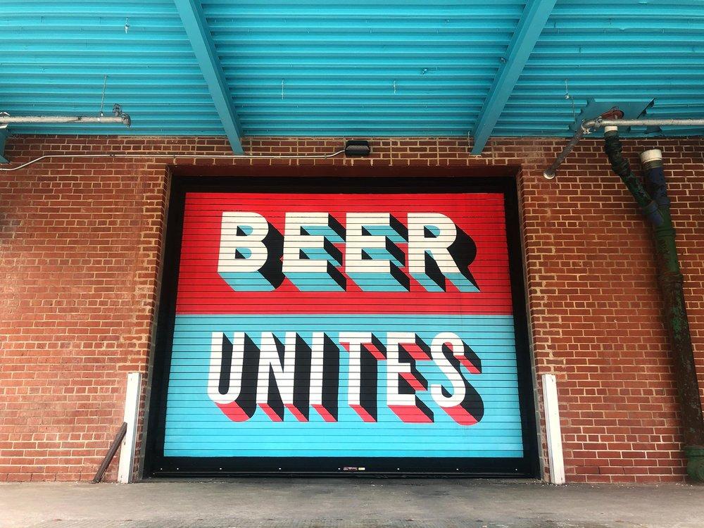 Union Craft Brewing: Garage Door Mural Design