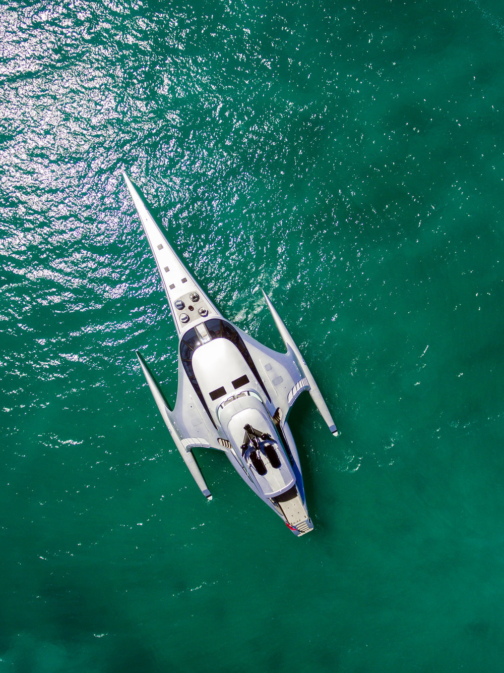 Adastra Yacht Aerial view