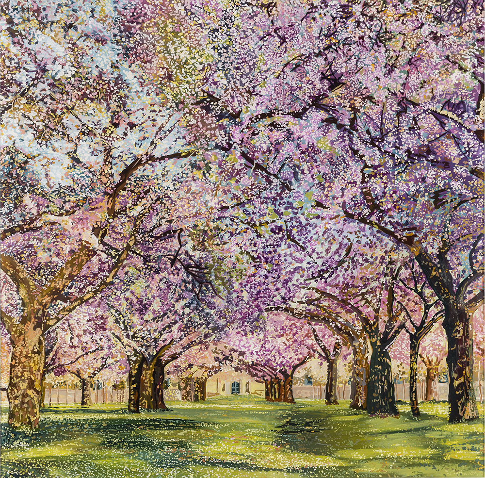 Blossom Avenue  Acrylic on plexiglass 24 in x 24 in 2015
