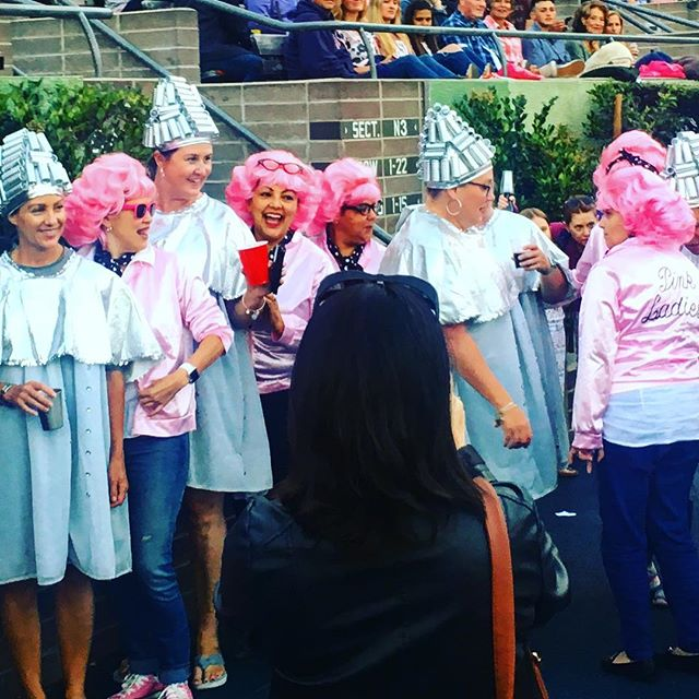 PinkLadys&BeautySchoolDropouts#greasesingalong #hollwoodbowl #greaseistheword