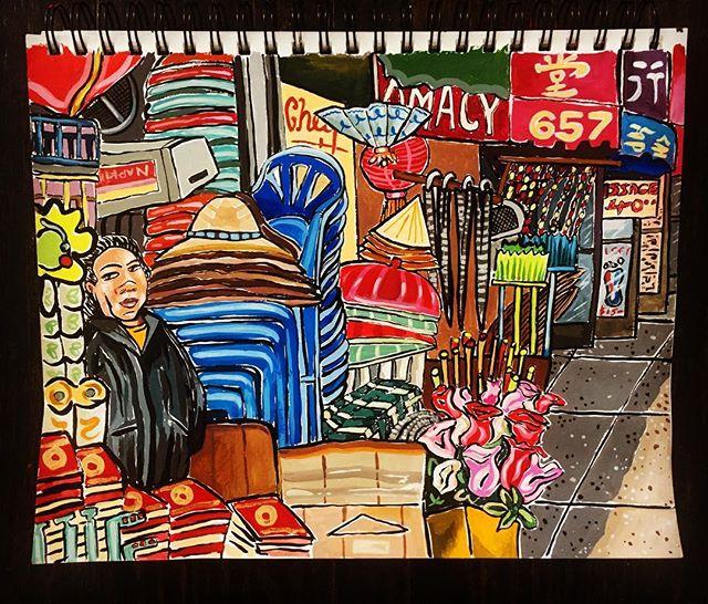 Sketchbook #chinatown #chinatownsummernights #youwannabuyahat