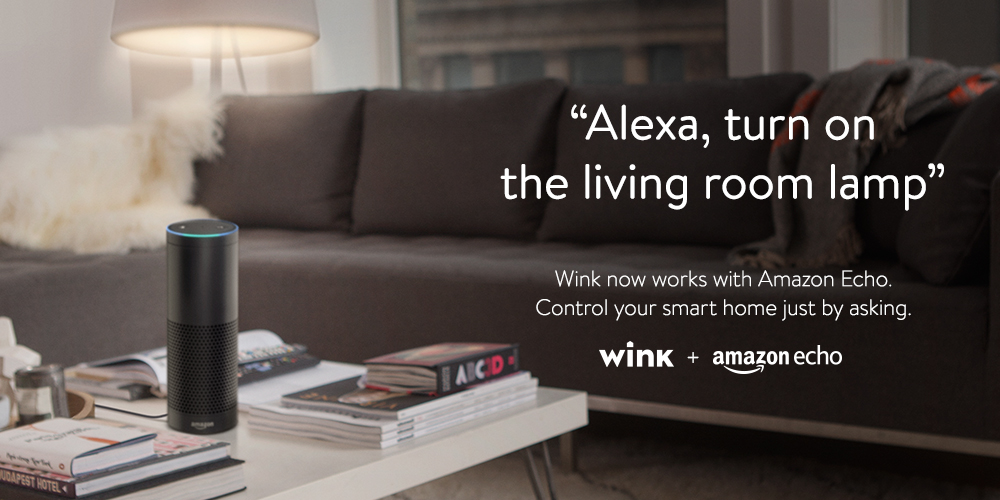 wink amazon echo just ask to control smart products around your home wink blog. Black Bedroom Furniture Sets. Home Design Ideas