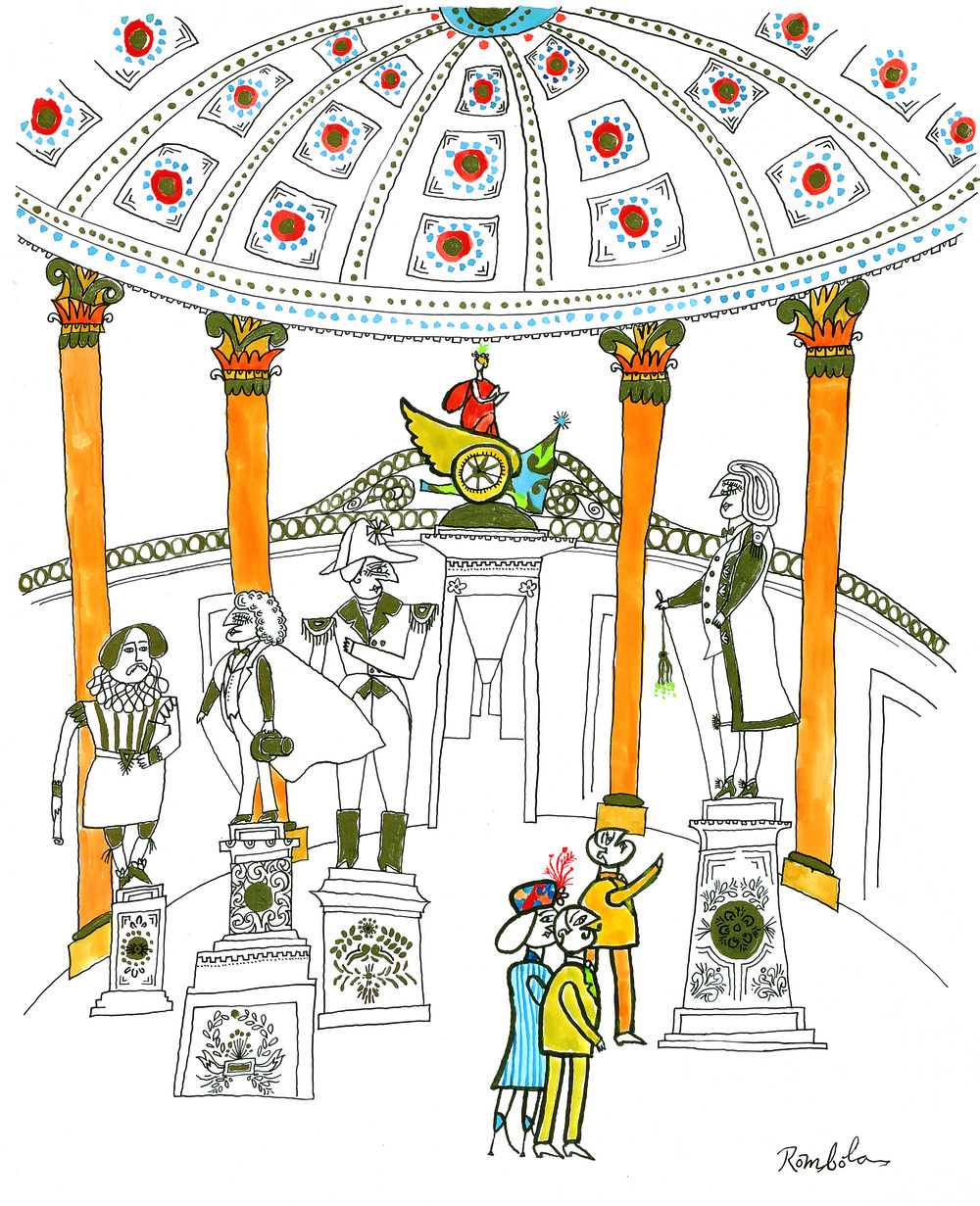 The Capitol Rotunda   circa 1959 60 Gouache and ink on paper.