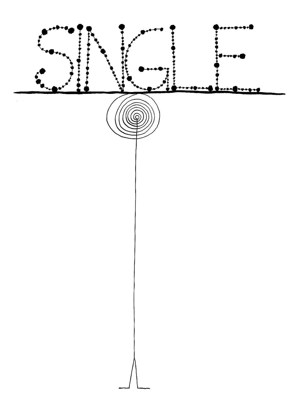 Single    Ink on paper 1968