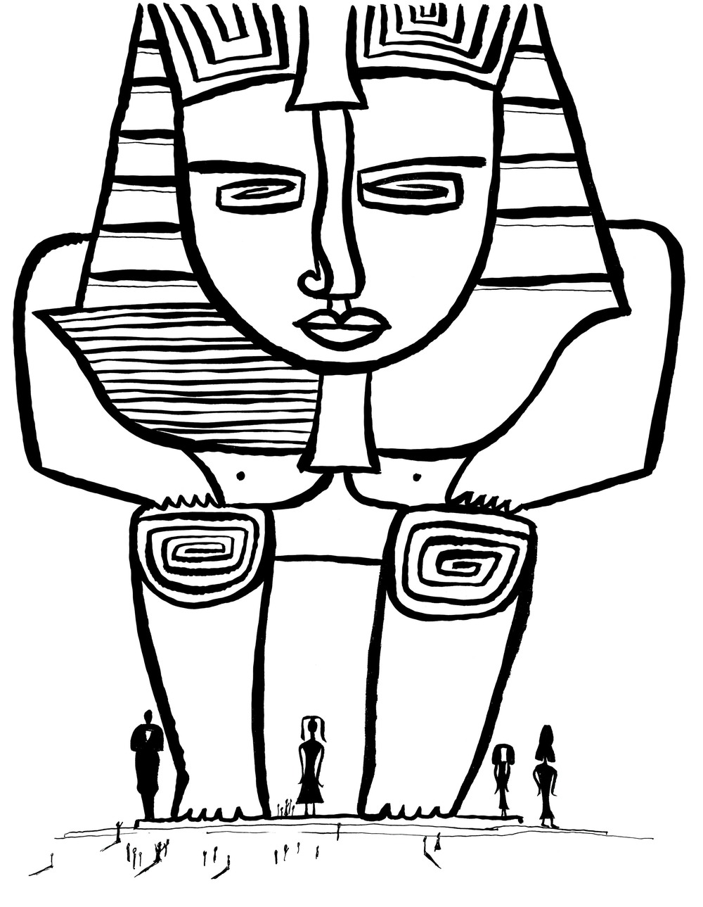 The Sphinx    Ink on paper 1963